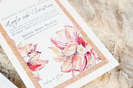 tropical themed wedding invitations tropical watercolor wedding invitations momental designsmomental