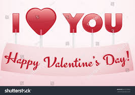 s day heart candy valentines day greeting card lollipops heart stock vector
