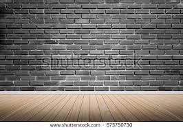 brick wall design wood terrace background bricks wall design stock photo 573750730