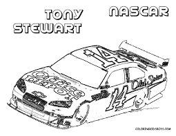 transmissionpress car coloring pages of nascar tony stewart 14