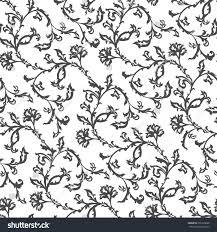vector seamless floral decorative black white stock vector