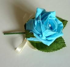 turquoise roses artificial buttonholes turquoise diamante buttonhole