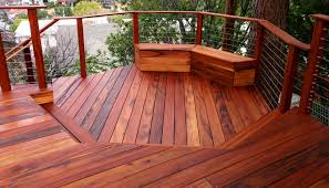 luxury decking over edge outdoor