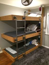 Make Wooden Loft Bed by The Triple Bunk Beds My Engineer Husband Designed For Our Three