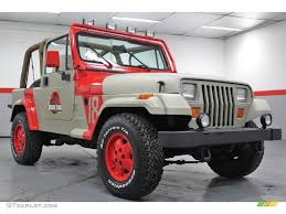 1994 jurassic park tan red jeep wrangler se 4x4 59689442 photo