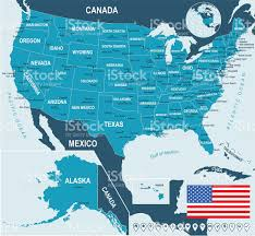 Usa Map Vector by United States Map Flag And Navigation Labels Illustration Stock