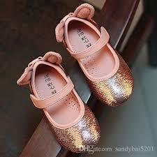 kids girls sequins shoes 2017 spring baby girls rabbit ears