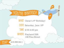 printable airplane birthday invitations template