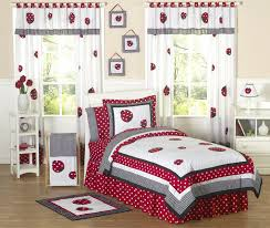 eiffel tower girls bedding little red white black ladybug girls bedding twin or full queen