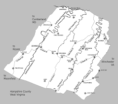 Detailed Map Of Virginia by Modern Map Of Hampshire County