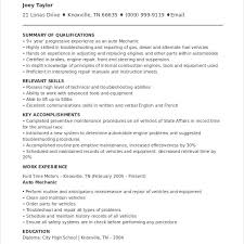 Auto Mechanic Resume Sample by Unbelievable Auto Mechanic Resume 9 Mechanic Resume Template