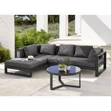 canapé d angle de jardin canapé d angle de jardin 4 5 places en aluminium noir maison du