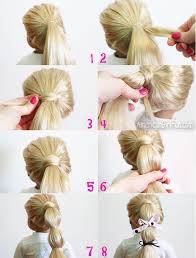 ribbon ponytail doll hairstyle hair wrapped ponytail with ribbon bows