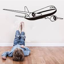 Nursery Airplane Decor Civil Aircraft Wall Stickers Home Decor Airplane Rooms