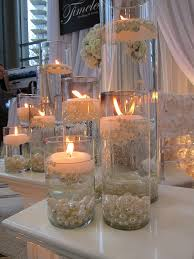 water centerpieces diy pearl and candle centerpieces mon cheri bridals