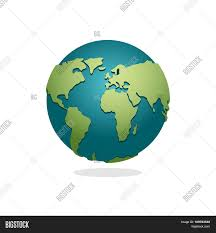 Map Of Continents And Oceans Earth Planet Sign Of Globe Space Earth On White Background
