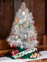 gold tinsel tabletop tree holiday decorating u0026 entertaining