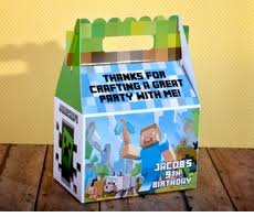 minecraft goody bags box gable minecraft kids party bags