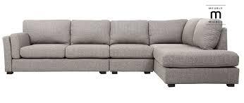canapé droit 6 places canapé d angle droit design 6 places milord tissu gris clair