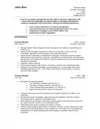 Sample Resume Property Manager by Property Manager Resume Sample Template Examples