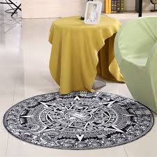 Round Yellow Rug Online Get Cheap Round Black Rug Aliexpress Com Alibaba Group