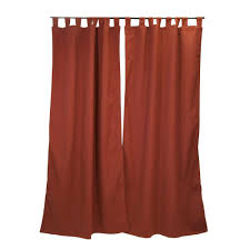 Sunbrella Outdoor Curtain Panels by Sunbrella 50 In X 96 In Canvas Henna Outdoor Tab Top Curtain