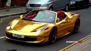 gold and black ferrari chrome gold ferrari 458 spider cruising through london youtube