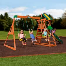 Playsets Outdoor Madison Wooden Swing Set Playsets Backyard Discovery