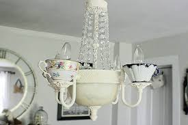 Tea Cup Chandelier Diy Funky Chandeliers Made Out Of Weird Objects