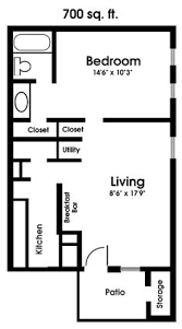 Two Bedroom Apartments One Bedroom Floor Plans Clearview Apartments Mobile Alabama