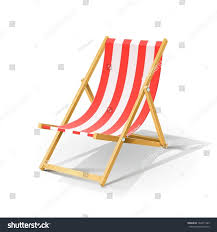 Beach Transparent by Wooden Beach Chaise Longue Vector Illustration Stock Vector
