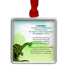 Dinosaur Christmas Tree Decorations by Grandson Poem Christmas Tree Decorations U0026 Ornaments Zazzle Co Uk