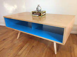 Midcentury Modern Tv Stand - mid century modern coffee table tv stand tapered wood legs