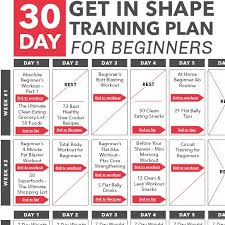 workout plans for beginners at home day get in shape training plan for beginners calendar