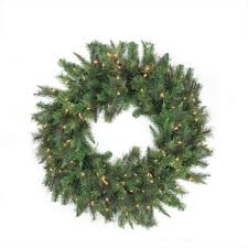 48 pre lit canadian pine artificial wreath multi