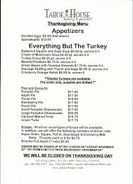thanksgiving menu for 2016 tahoe house bakery gourmet