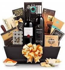 high end gift baskets the finer things gift basket abundance wine baskets and gift