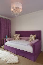 purple headboard transitional u0027s room zhush