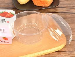 baking container storage 100pcs clear plastic cake boxes blister box pudding ice cream