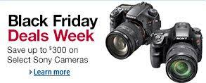 camera sales black friday amazon has some awesome prices on sony cameras this weekend
