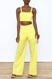 matching set luxxel bright yellow matching set from new york city by dor l dor