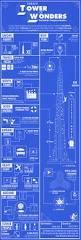 Burj Khalifa Burj Khalifa Blue Print Infographic On Behance
