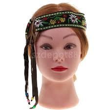 hippie headband hippie headband peace sign flower embroidery tassel hairband hippy