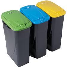 poubelle tri selectif cuisine poubelle tri sélectif jaune 25 l poubelle entretien