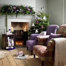 Country Living Room Decorating Ideas Country Christmas Living Room Ideas Purple Chair Christmas