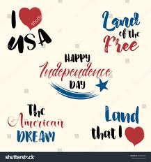 happy independence day set vector hand stock vector 654582922