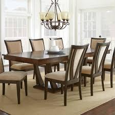 steve silver gabrielle 9 piece dining room set in medium walnut