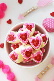 day candy adorable diy white chocolate s day candy hearts