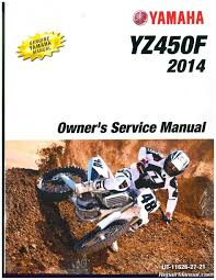 yamaha yz450f motorcycle owners service manual