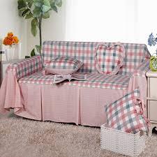 canapé princesse yl 100 coton européenne classique à carreaux housse de canapé tissu